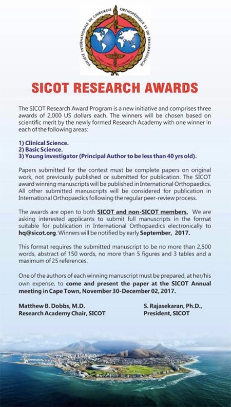Sicot Research Awards